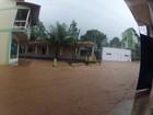 Chuva provoca alagamentos em Alfredo Chaves, ES