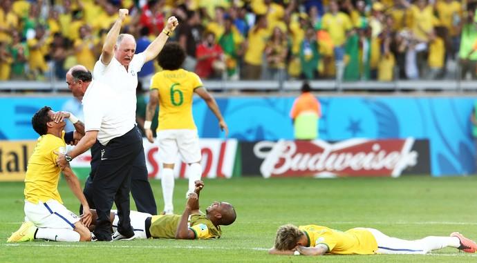 Luiz Felipe Scolari Felipão  Neymar brasil x chile (Foto: Marcos Ribolli)