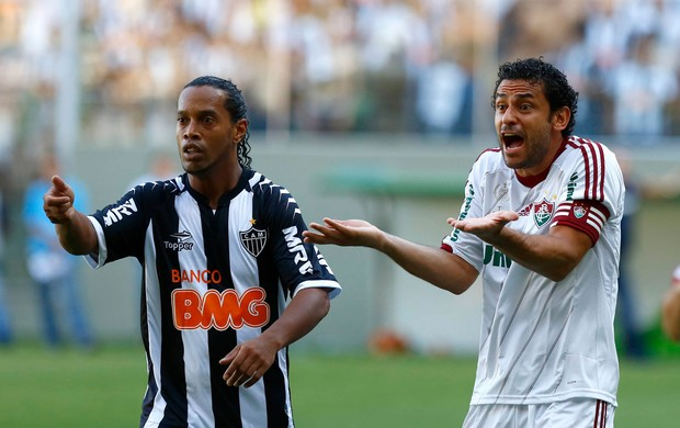 Ronaldinho e Fred Atlético-MG x Fluminense (Foto: Marcus Desimoni / Ag. Estado)