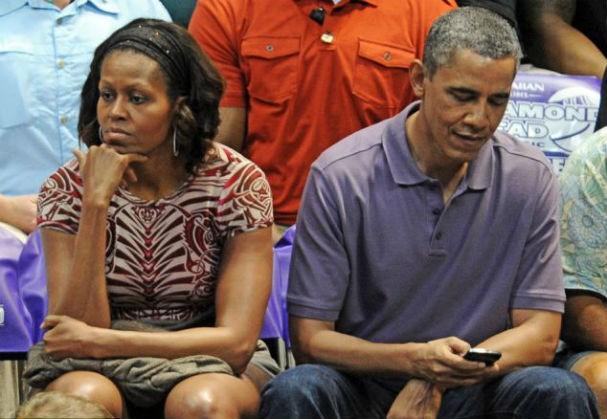O casal presidencial dos EUA tem aparecido mais afastados nos últimos meses (Foto: getty images)