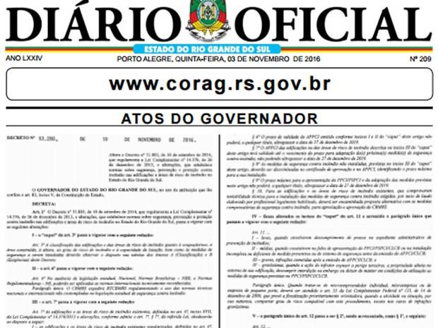 Alterações foram publicadas no Diário Oficial desta quinta-feira (Foto: Reprodução )