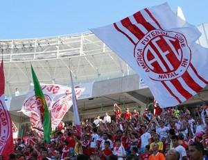 Torcida América-RN inauguração Arena das Dunas (Foto: Augusto Gomes)