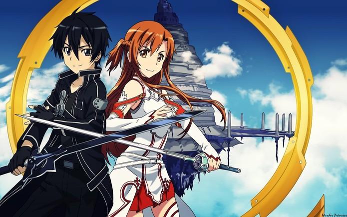 Kirito e Asuna em Sword Art Online (Foto: Divulgação/Reki Kawahara)