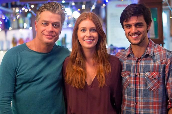 Será que Eliza vai ficar com Arthur ou Jonatas? (Foto: Fabiano Battaglin/Gshow)