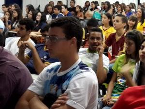 Estudantes no último interativo  (Foto: Reprodução/ TV Gazeta)