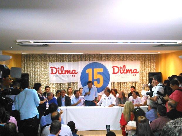 Pezão se reuniu com lideranças do PT nesta quarta-feira (Foto: Gabriel Barreira / G1)