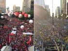Manifestantes pró e contra governo rejeitam Temer e Cunha, diz Datafolha
