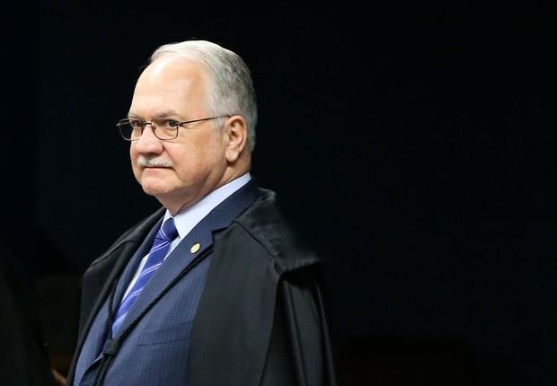 O ministro do STF Luiz Edson Fachin durante sessão (Foto: Marcelo Camargo/Agência Brasil)