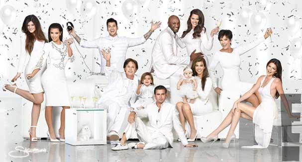 O cartão de Natal da família Kardashian-Jenner, versão 2012 (Foto: Reprodução)