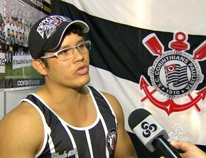 Wagner Laredo, torcedor do Corinthians (Foto: Reprodução TV Amazonas)