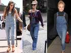 O clássico macacão jeans não sai do guarda-roupa de famosas