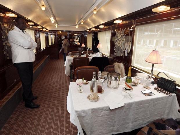 Vagão restaurante do Orient Express (Foto: Charles Platiau/Reuters)