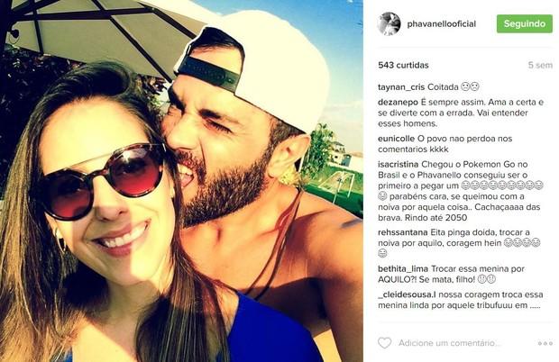 Rodrigo Phavanello apagou críticas que lotaram sua conta no Instagram (Foto: Reprodução/Instagram)
