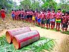 Índios fazem cerimônia de passagem da infância para adolescência no MA