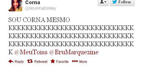 Fã de Neymar diz que é a traída (Foto: Reprodução / Twitter)