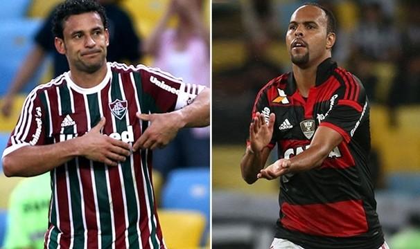 Fred (Fluminense) e Alecsandro (Flamengo) querem fazer gols no Maraca. (Foto: Divulgação)