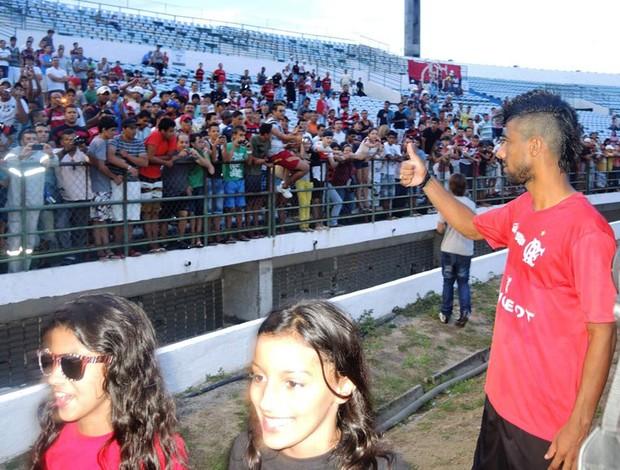 Leo Moura Flamengo treino (Foto: Cahê Mota)