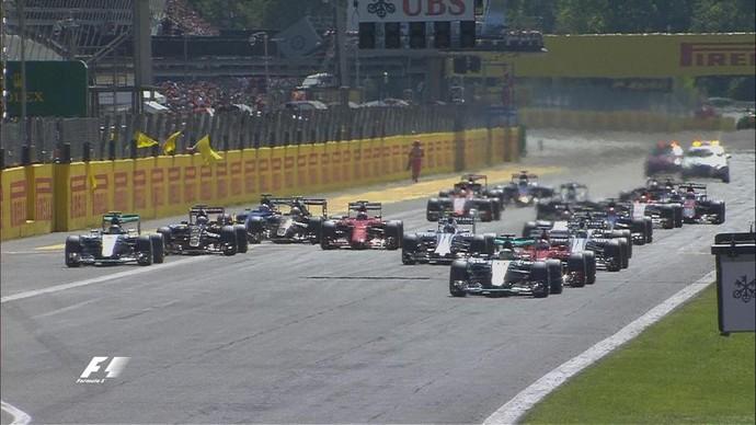 Kimi Raikkonen demorou a partir na largada para o GP da Itália (Foto: Reprodução / Twitter)