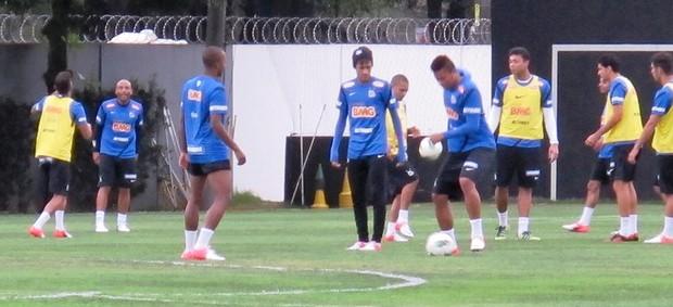 Neymar treino do Santos (Foto: Lincoln Chaves de Oliveira)