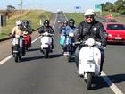 Encontro de motos Vespas passa por cidades da RMC no fim de semana