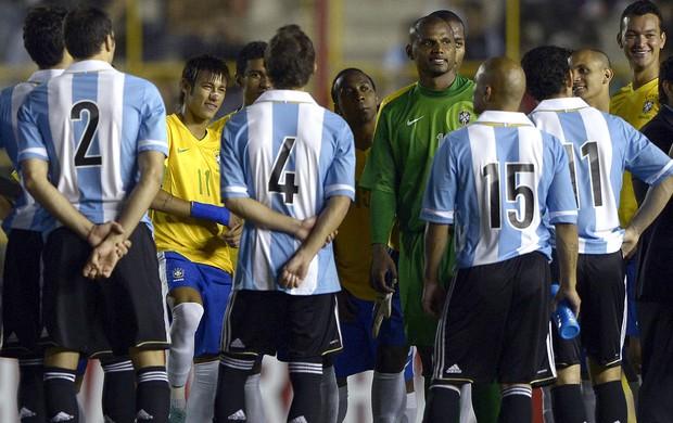 Confusão, Argentina x Brasil (Foto: Agência AFP)