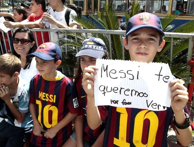 Torcida Chegada Argentina (Foto: Agência EFE)