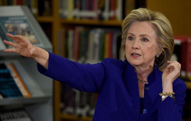 A candidata democrata à Casa Branca Hillary Clinton em evento em Las Vegas nesta terça-feira (5) (Foto: Ethan Miller/Getty Images/AFP )