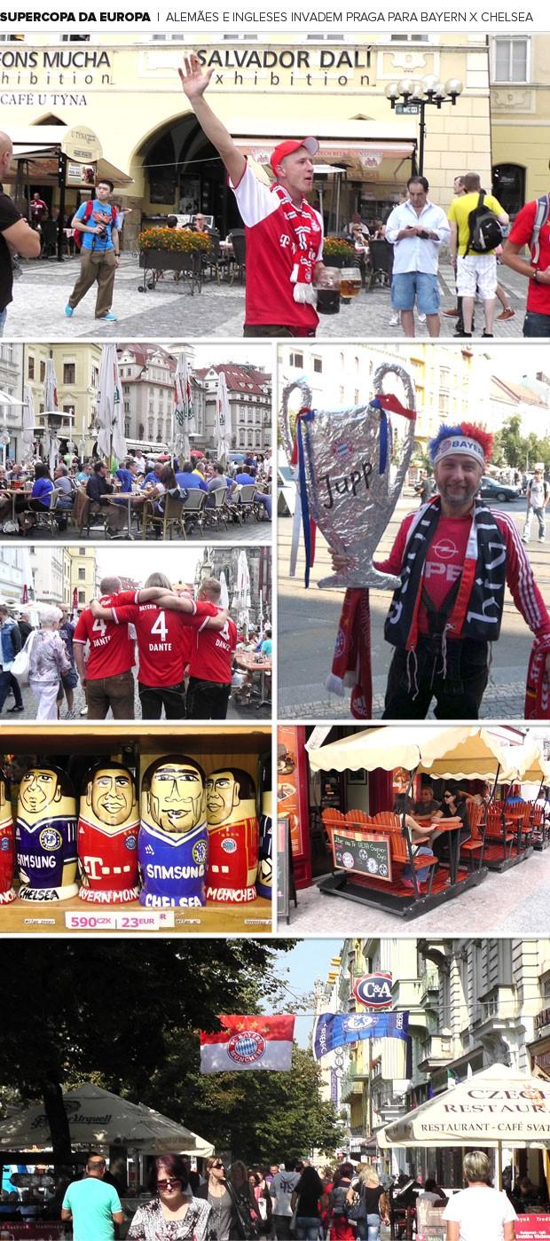 Mosaico Super Copa Bayern e Chelsea (Foto: Editoria de Arte)