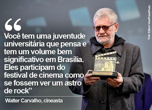 """Walter Carvalho, em entrevista sobre """"Um Filme sobre cinema"""" (Foto: Edison Viana/PressPhoto)"""