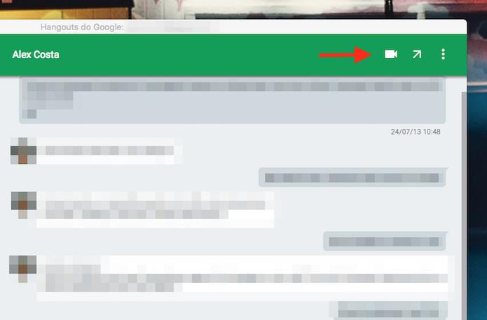 Opções para um chat do Google Hangouts para Google Chrome (Foto: Reprodução/Marvin Costa)