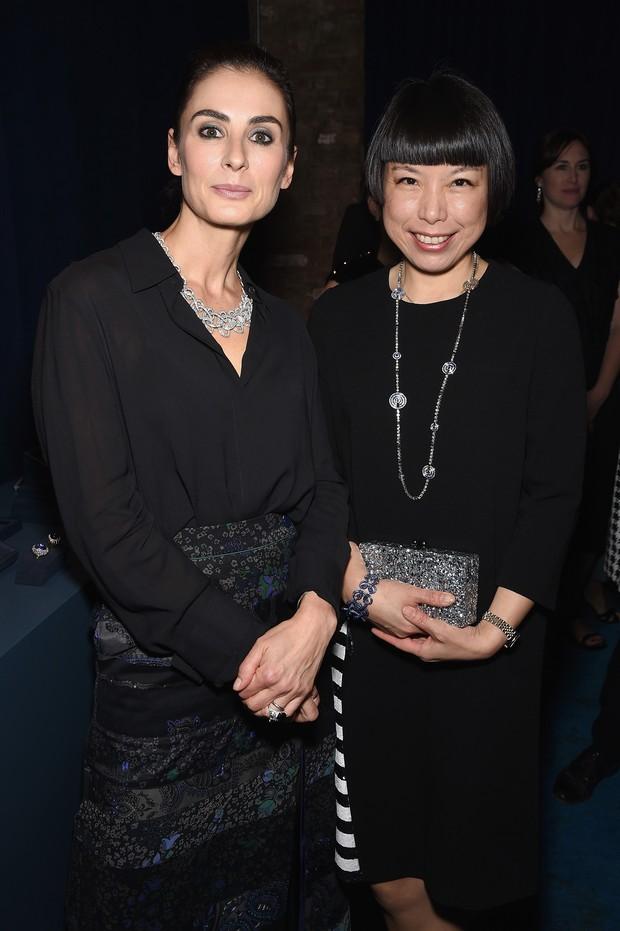 Diretora de design da Tiffany, Francesca Amfitheatrof, e Angelica Cheung (Foto: Divulgação)