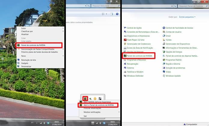 """Execute o """"Painel de controle da NVIDIA"""" por um de seus atalhos (Foto: Reprodução/Daniel Ribeiro)"""