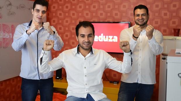 Os três sócios da Reduza começaram a desenvolver a startup em 2013, e já contam com 30 e-commerces parceiros (Foto: Divulgação)