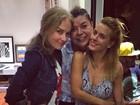 Angélica, Luciano Huck e Carolina Dieckmann vão à festa de David Brazil