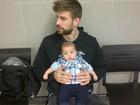 Fofo: Shakira posta foto do filho no colo do pai, Gerard Piqué