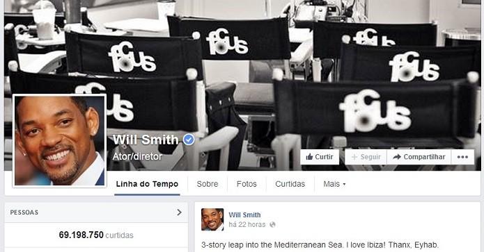 Cantor, ator e diretor, Will é hit no Facebook (Foto: Reprodução/Facebook)