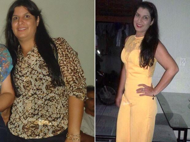 Chirley Ferreira de Oliveira Albano emagreceu 18 kg após levar bronca da irmã (Foto: Arquivo pessoal/Chirley Albano)