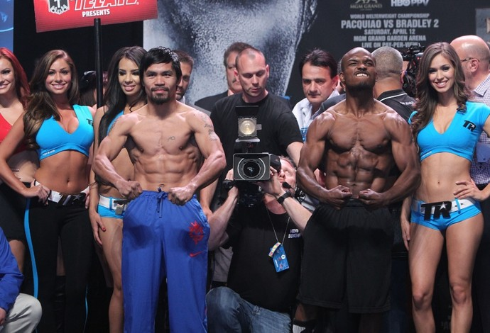 Pacquiao x Bradley (Foto: Chris Farina/Top Rank)