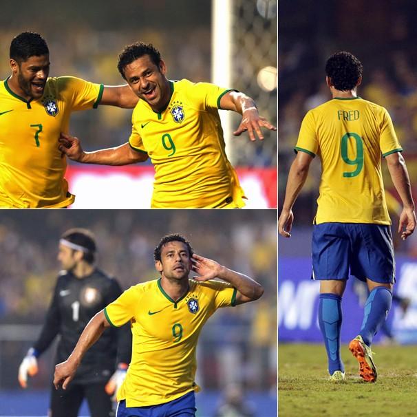 Fred comemora o gol que garantiu ao Brasil a vitória sobre a Sérvia no último amistoso antes da Copa (Foto: Wander Roberto/VIPCOMM)