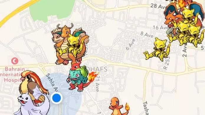 Poké Radar ajuda a encontrar Pokémon com a ajuda de outros usuários, mas não acredite naquele Dragonite (Foto: Reprodução/Rash Bandicoot)