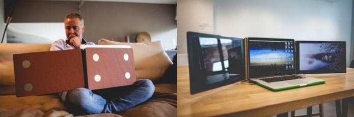 Você pode optar por uma ou duas telas extras (Foto: Divulgação/Kickstarter)