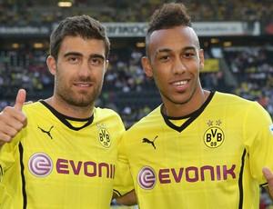 Borussia Dortmund Soraktis e Aubameyang (Foto: Reprodução / Facebook)