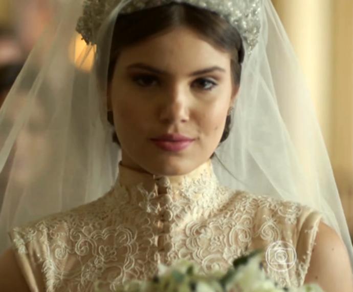 Essa foi a reação de Angel após se casar com Guilherme (Foto: TV Globo)