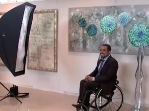 Além das fotos, um vídeo documentário foi produzido com as reações melhores momentos dos modelos. Rio Preto (Foto: Reprodução / TV TEM)
