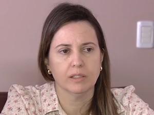 Miriam Moraes, mãe de Allana Moraes, fala sobre a saudade da filha, em Goiás (Foto: Reprodução/TV Anhanguera)
