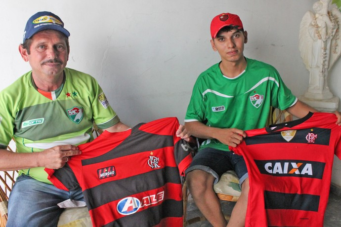 Torcida Salgueiro e Flamengo (Foto: Emerson Rocha)