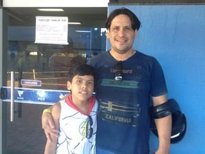 Pai e filho participaram de campeonato (Foto: Ísis Capistrano/ G1)