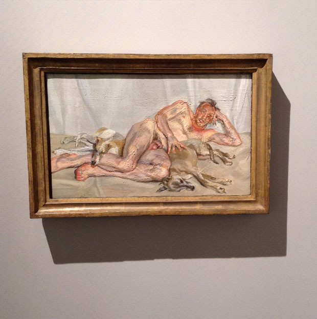 Lucian Freud David, Pluto and Eli, 2011 Acquavella Galleries, Nova York (Foto: Divulgação)