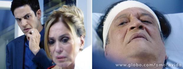 Félix fica tenso, mas percebe que o paciente está mal (Foto: Amor à Vida / TV Globo)