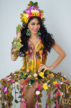 Sheislane Hayalla, segunda colocada no Miss Amazonas 2015 (Foto: Reprodução/Facebook)